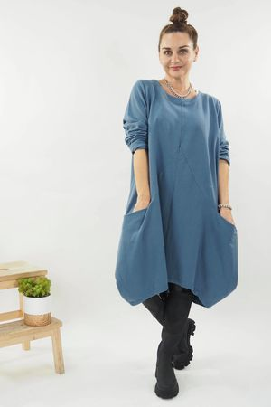 The Swag Cocoon Tunic Denim