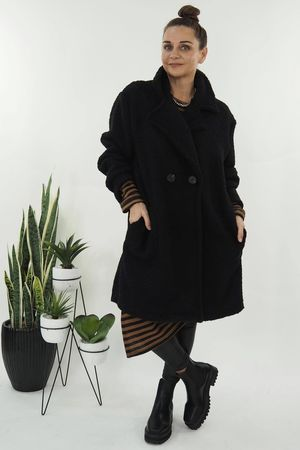 The Teddy Coat Black
