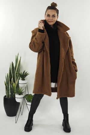 The Teddy Coat Dark Tan