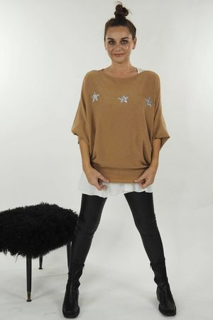 The Three Star Slouch Knit Soft Tan
