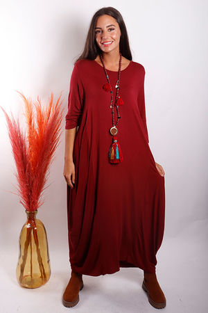 The 3/4 Sleeve Parachute Dress Rioja