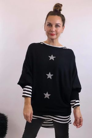 The 3 Star Batwing Knit Black