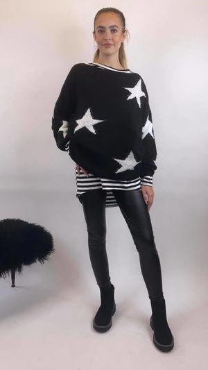 The All Star Box Knit Black & White