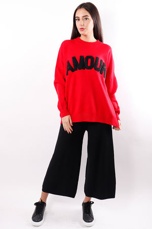 The Amour Knit Red