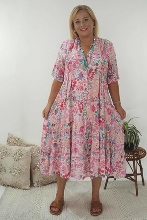 The Antibes Maxi Dress Pinks