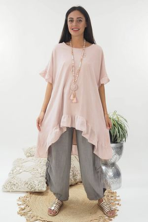 The Archie Frill Tee Blush