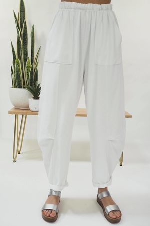 The Baby Cocoon Relaxed Sweat Pant White