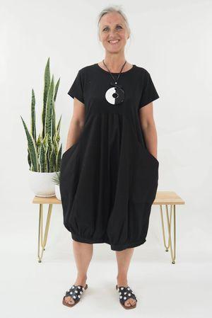 The Balloon Dress Black