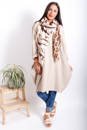 The Basic Cocoon Tunic Beige