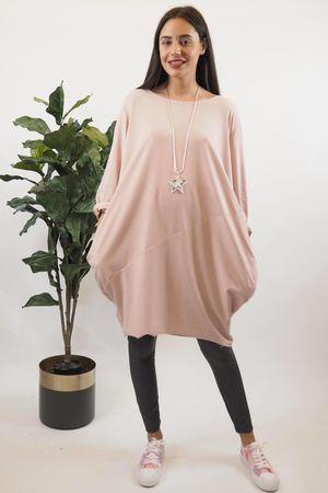 The Basic Cocoon Tunic Blush