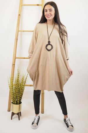 The Basic Cocoon Tunic Sand