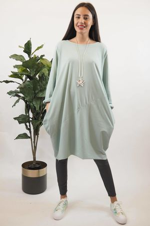 The Basic Cocoon Tunic Mint