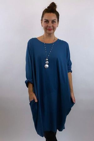 The Basic Cocoon Tunic Teal