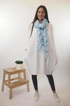 The Basic Cocoon Tunic Warm White