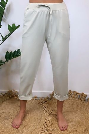 The Basic Crop Jogger Nude