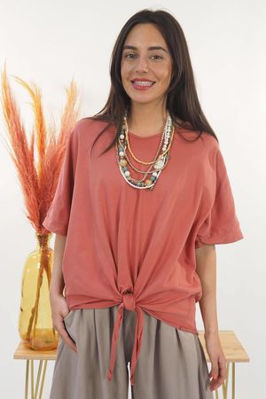 The Basic Knot Top Terracotta