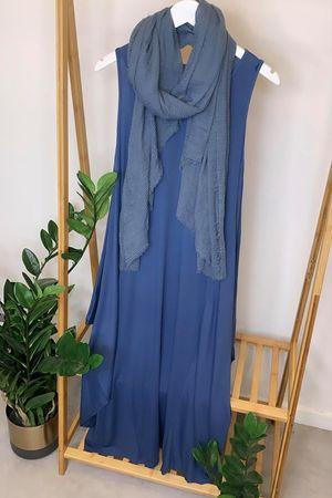 The Basic Long Parachute Dress Denim