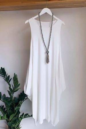 The Basic Long Parachute Dress Warm White