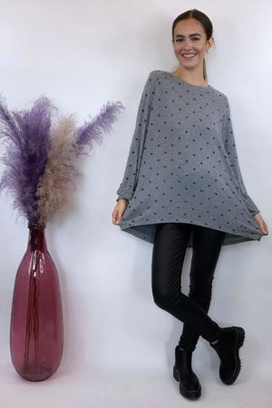 The Basic Scatter Star Fine Knit Grey