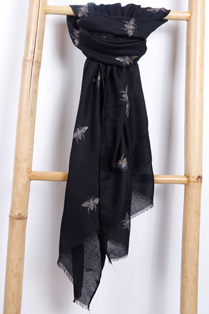 The Bee Scarf Black