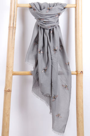 The Bee Scarf Khaki