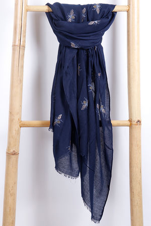 The Bee Scarf Navy