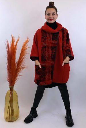 The Benji Flock Jacket Red