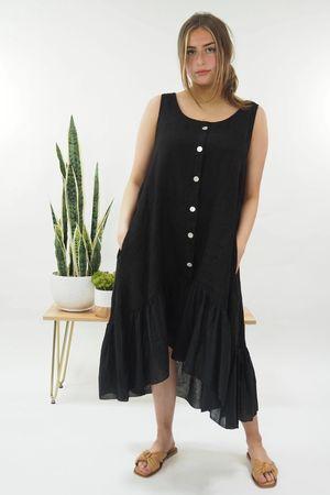 The Benji Hi Lo Dress Black*