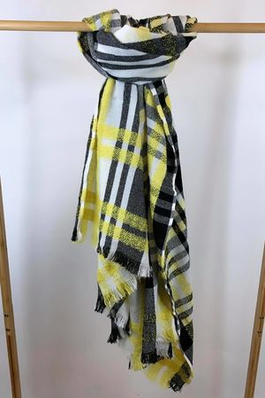 The Big Softie Chequers Scarf Mellow