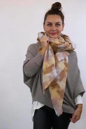 The Big Softie Cubist Scarf Neutrals