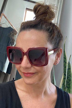 The Block Sunglasses Maroon