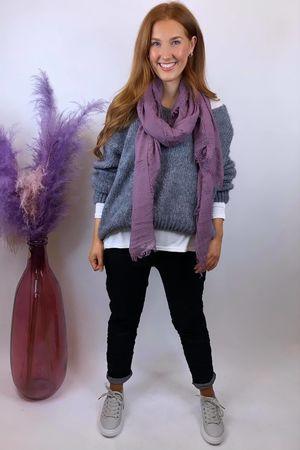 The Blousy Big Softie Knit Slate