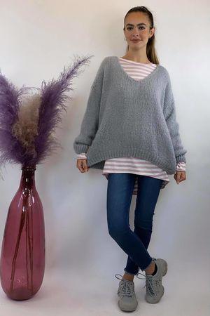 The Blousy Big Softie Knit Dove