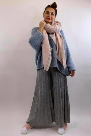 The Boucle Big Softie Knit Ice