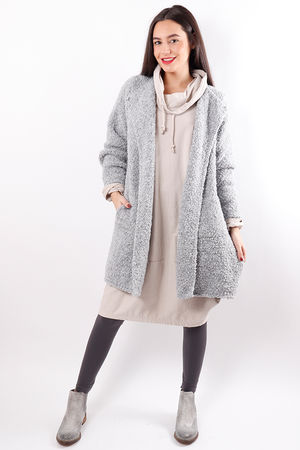 The Boucle Cardigan Dove