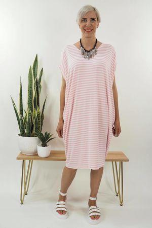 The Breton Tulip Dress Blush
