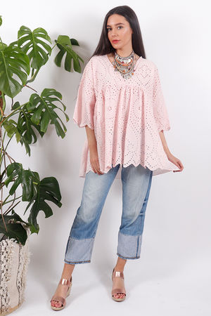 The Brodie Smock Top Blush