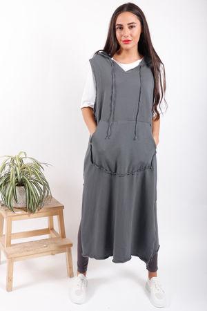 The Brooklyn 2 Piece Hoody Dress Grey