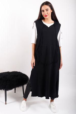 The Brooklyn Hoody Dress Black