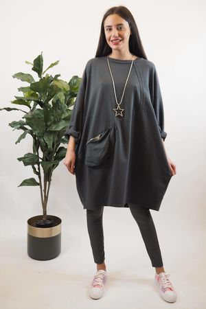 The Bumbag Boulle Tunic Graphite