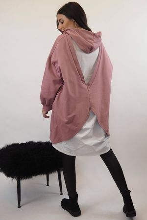 The Butterfly Back Hoodie Dusky Rose