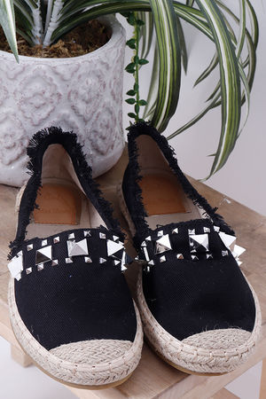 The Calabasas Espadrille Black