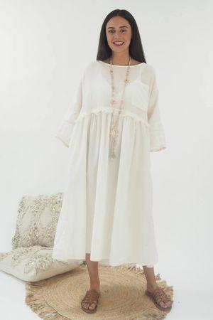 The Calabasas Midi Dress Ecru
