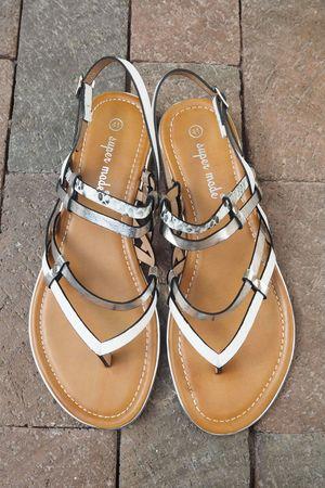 The Calabasas Sandal Silver