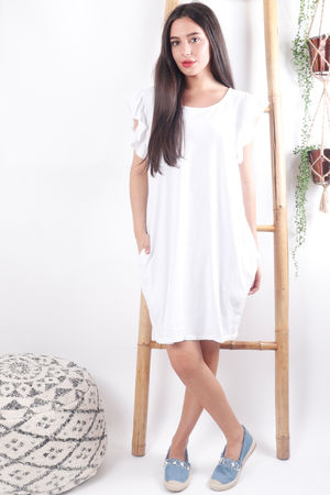 The Calabasis T Shirt Dress White