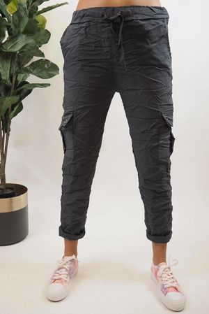 The Cargo Crinkle Magic Jogger Graphite