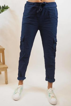 The Cargo Crinkle Magic Jogger Navy