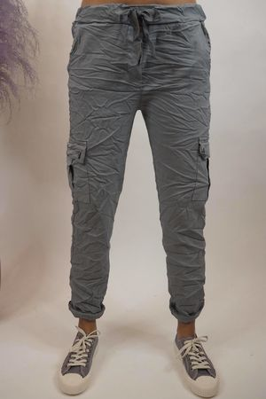 The Cargo Crinkle Magic Jogger Steel