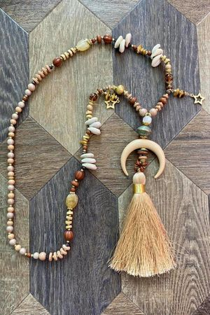 The Chania Tassel Necklace Naturals