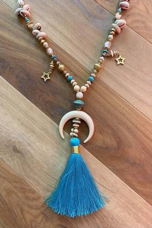 The Chania Tassel Necklace Turquoise
